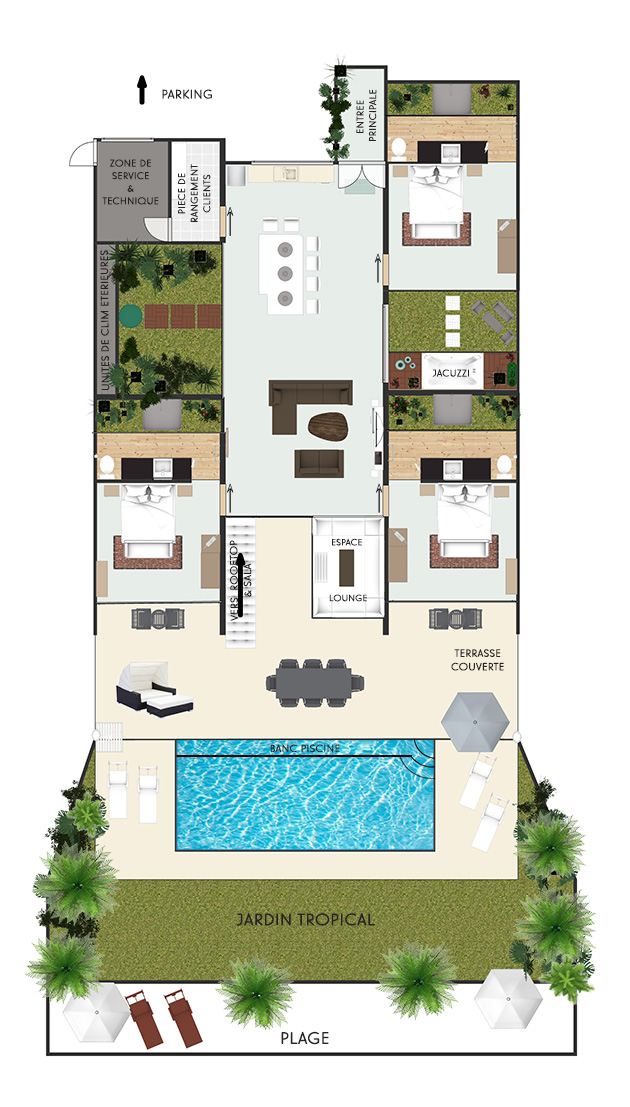 Floor Plan Bliss Villas