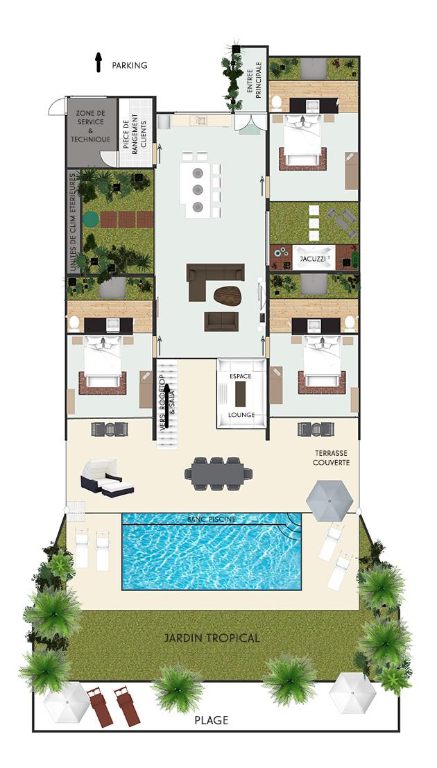 Floor Plan Bliss Villas